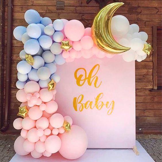 Printed Backdrop with Balloon Garland