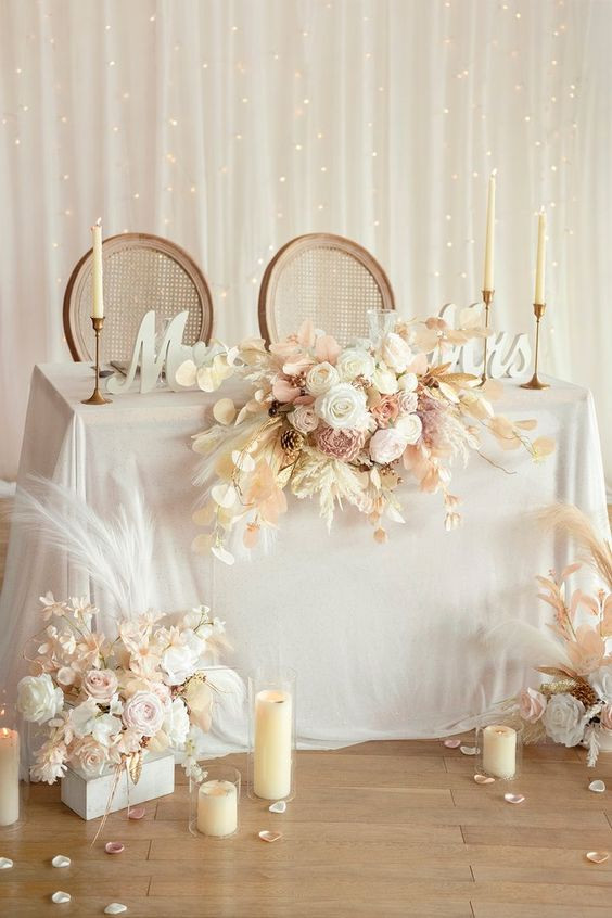 Symmetrical Table Floral Arrangement
