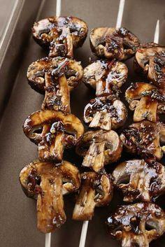 Mushroom skewer