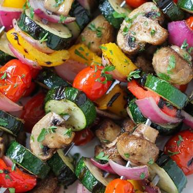 Assorted vegetables skewer