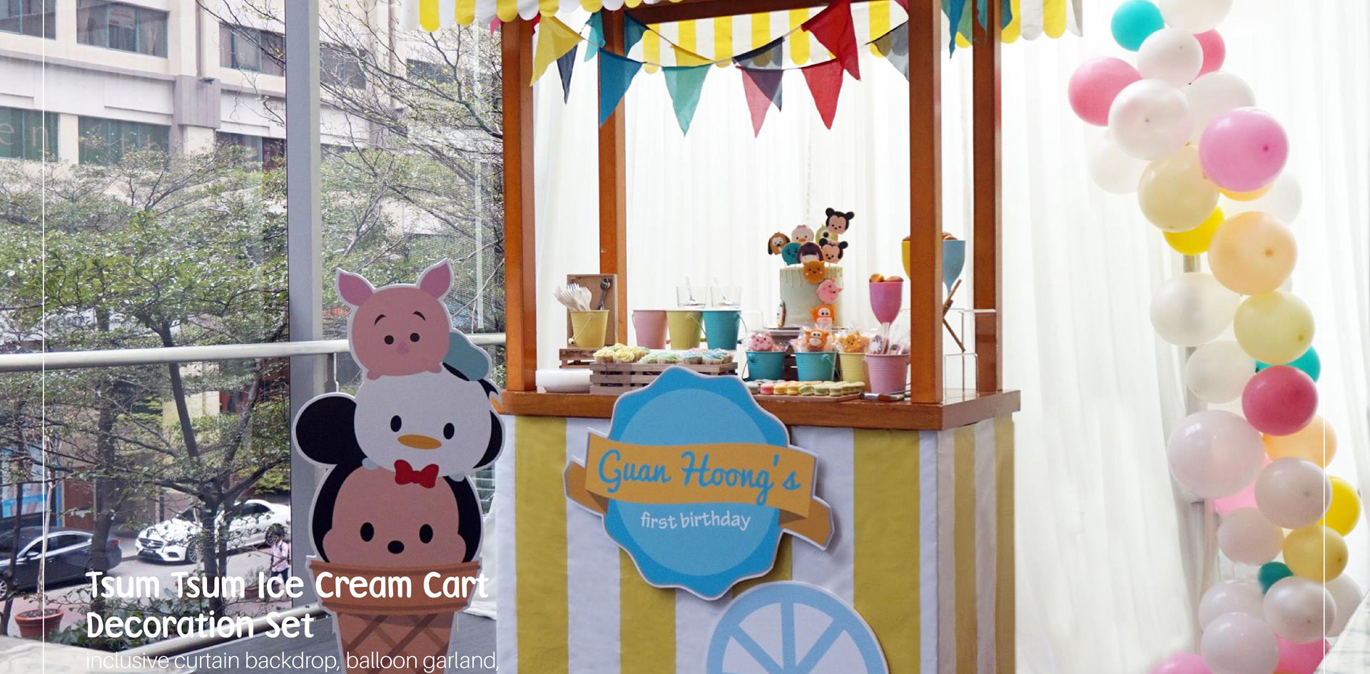 Tsum Tsum Ice Cream Stall Dessert Table