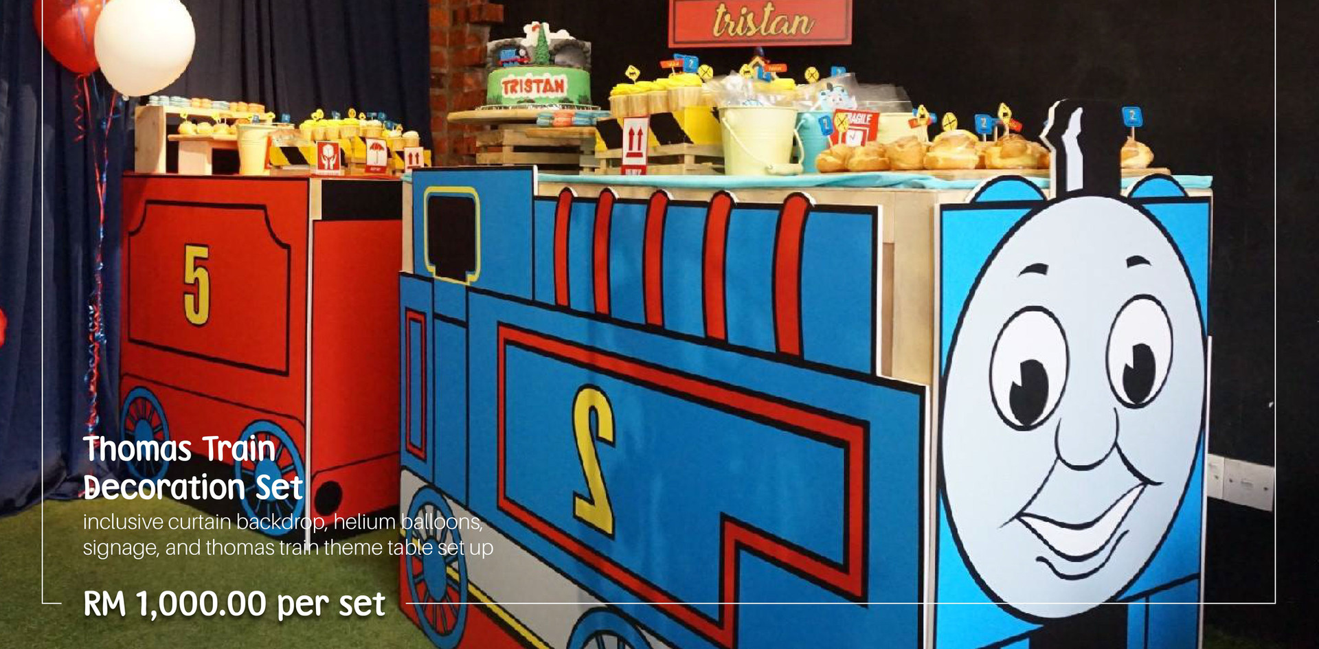 Thomas Train Dessert Table
