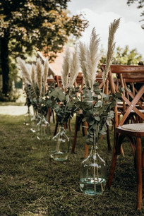 Feather & Greenery Stalks in Glassware