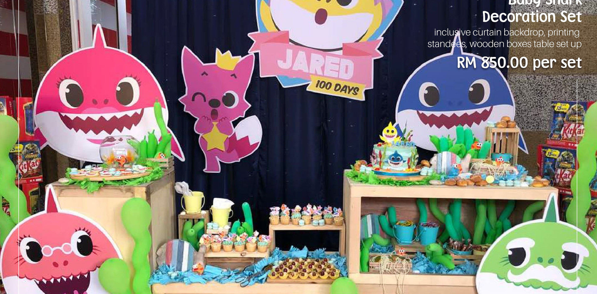 Baby Shark Dessert Table