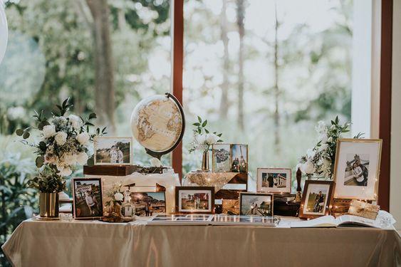Frames on Table