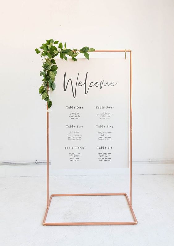 Printed Board with Floral & Gold Stand