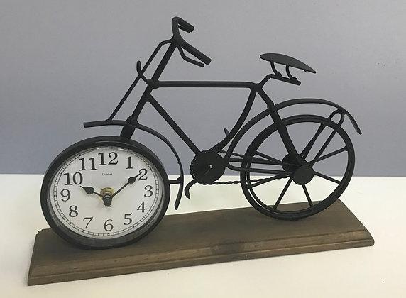Vintage Bike Clock Black
