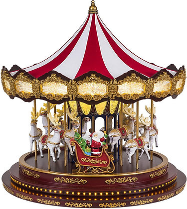 Deluxe Christmas Carousel Holiday Decoration