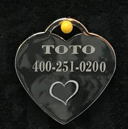 Personalized Engraved Stainless steel Heart - L011