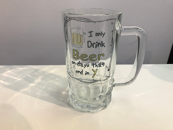 Customized Beer Glass Clear