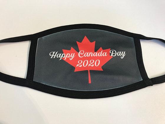 Happy Canada Day 2020 Black Mask