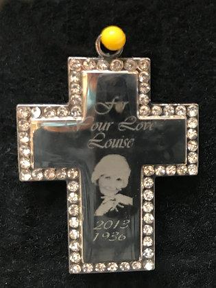 Personalized Engraved Stainless steel  Cross  - MEM010