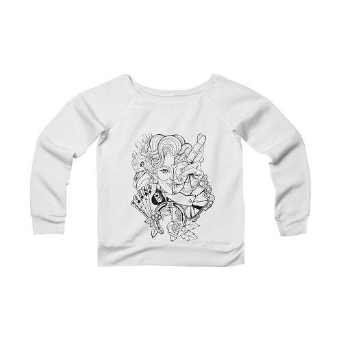 Lucky 13 Women's Sponge Fleece Wide Neck Sweatshirt