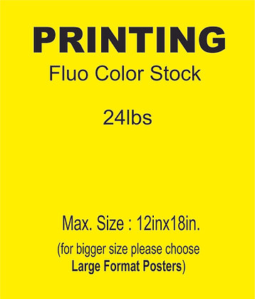 PRINT on Fluo Paper Stock