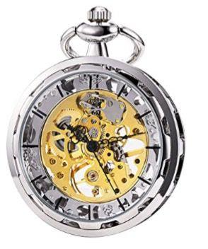 Mechanical Movement Open Face, Silver Pocket watch