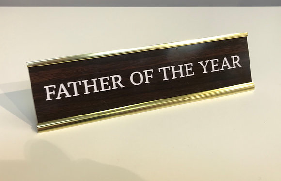 Desk Plate - Father of The Year