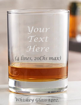 Whiskey Glass Engraved