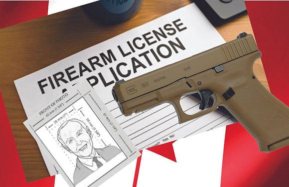 Firearms Licence Photos