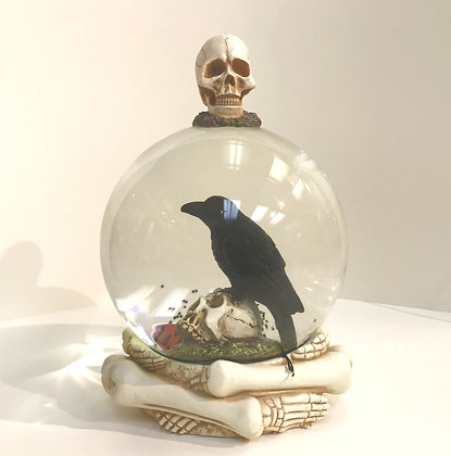 Crow Snow globe collectible