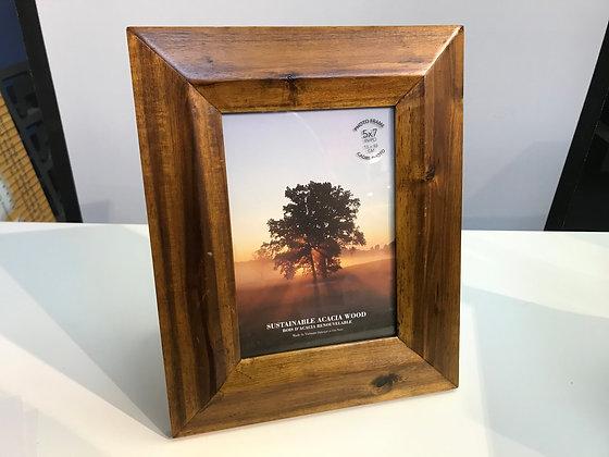 Frame polished wood