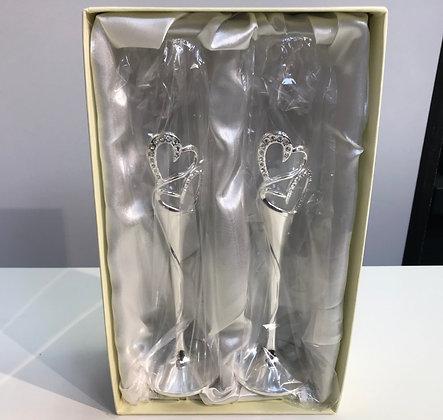Set of 2 Champagne Flutes for Wedding