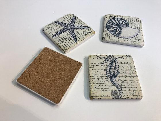 Set of Sea Nature Coasters