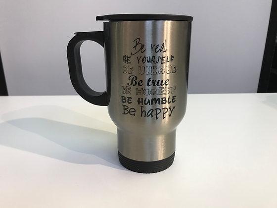 Customized Travel Mug Silver - Stainless