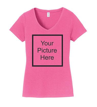 V-neck T-shirt Ladies