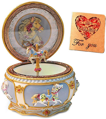Horse Music Box Collectible  Deluxe