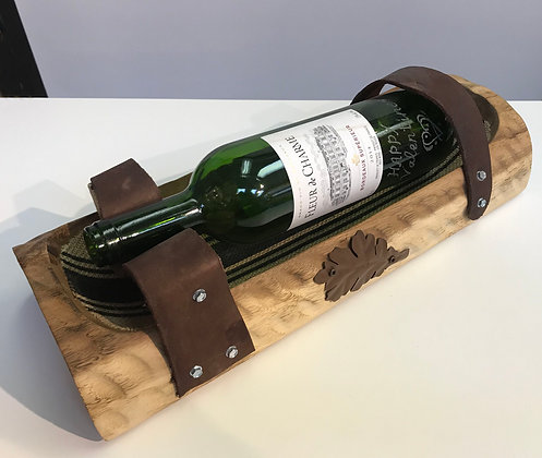 Wood Wine Bottle Handler