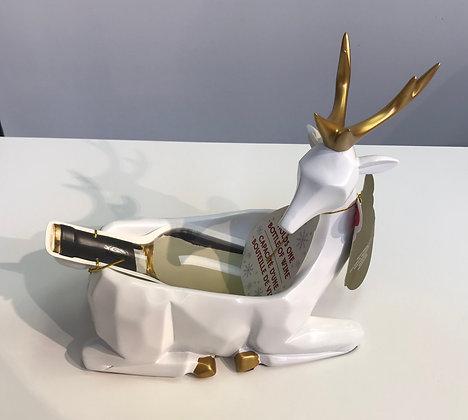Wine Bottle Handler - White Deer