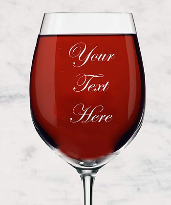 Wine Glass Engraved