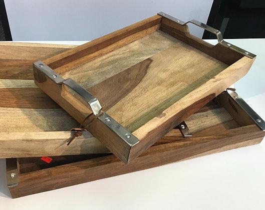 Solid Wood Trays ( Set of Three)