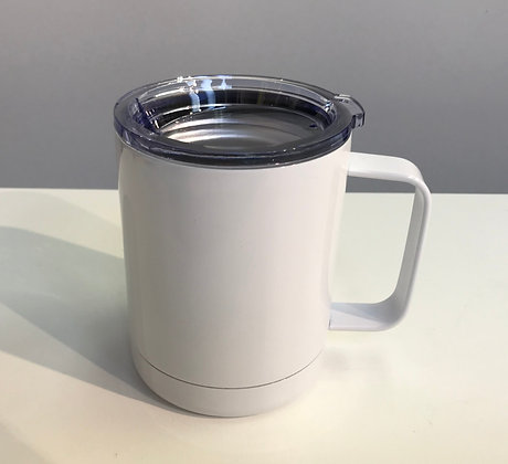 Custom Coffee Mug Stainless Steel White