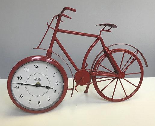 Vintage Bike Clock Red
