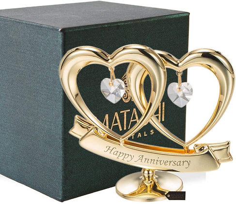 Happy Anniversary Double Heart Table Top