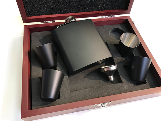 Flask Set 6 pcs Black