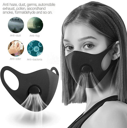 Face Cotton  Mask with Valve and Filter
