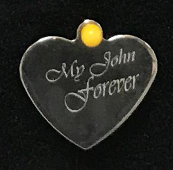Personalized Engraved Stainless steel  Heart - M 008