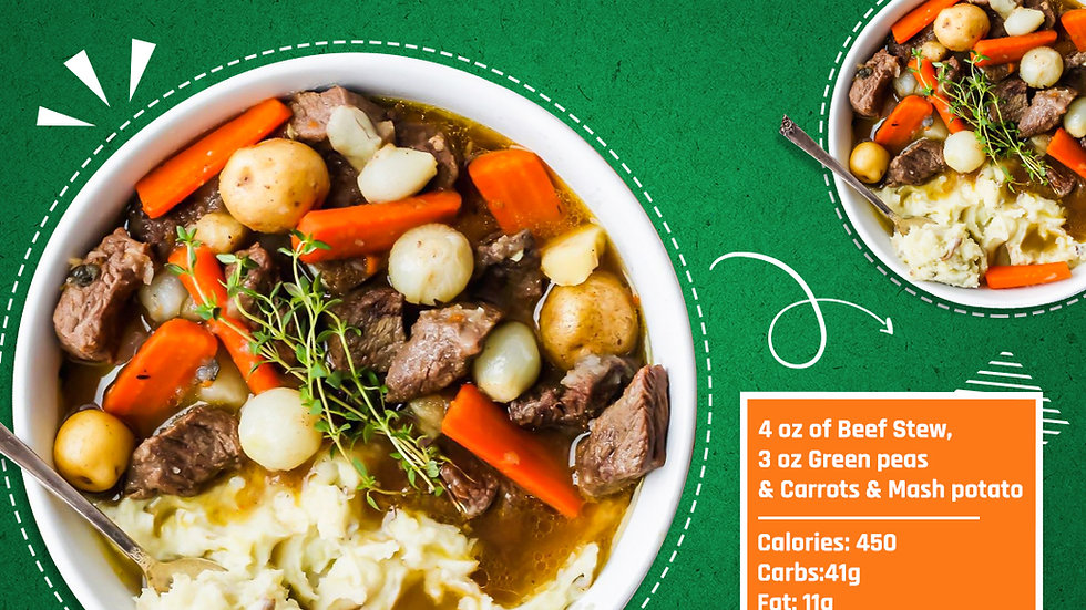 BEEF STEW WITH MASH POTATOES (Min 2 Orders)