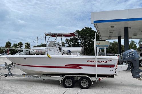 2002 Pro-Line Boat 25 Sport Yamaha 225HP. 2021 Magic Tilt Trailer