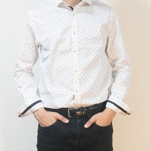 長袖シャツ ドット