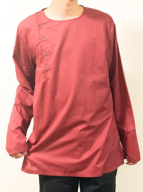 クルーネック長袖Tシャツ
