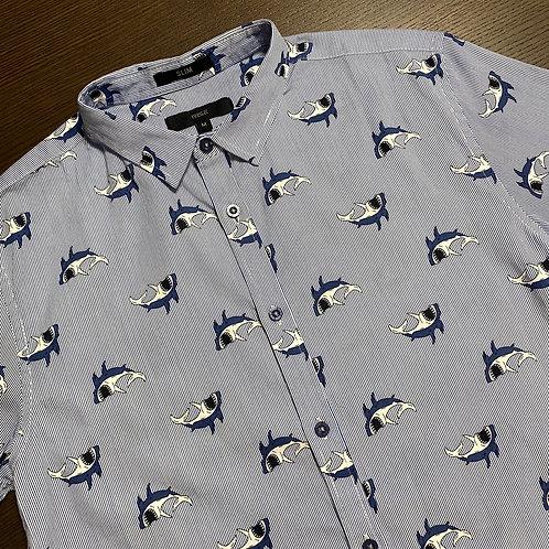 半袖シャツ サメ柄