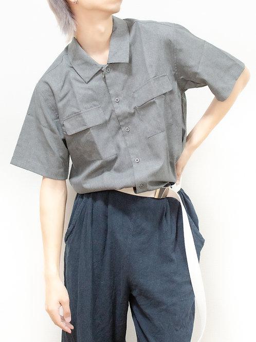 ポリトロワークポケットシャツ