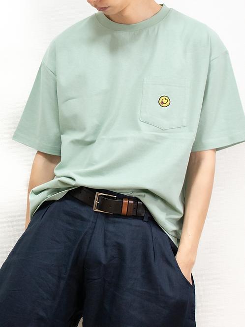 にこちゃん刺繍 Tシャツ