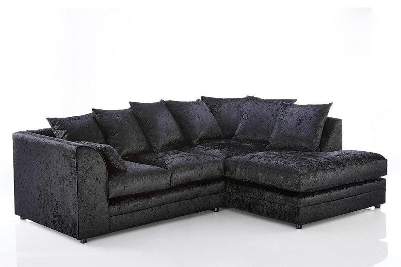 Chicago crushed Velvet Corner sofa