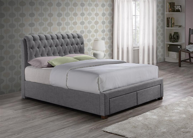 Valentino 2 Drawer Fabric Bed