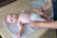 The 16x18 SPLASHPAD mat is a soft and secure place to dry off baby, and change baby's diaper.