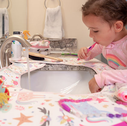 Keep toothpaste off the counter with the bathroom SPLASHPAD